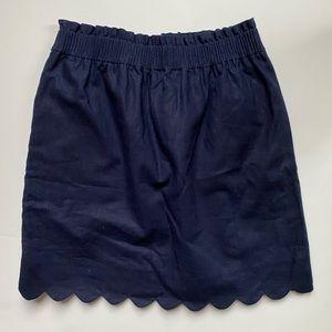 Winter J.Crew Scallop Skirt
